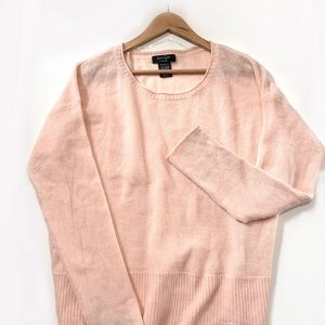 Lord & Taylor Cashmere Light Peach Sweater